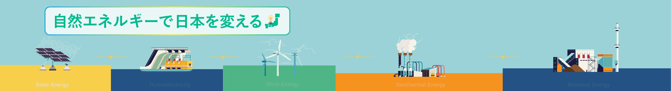 自然エネルギーで日本を変えるイメージ