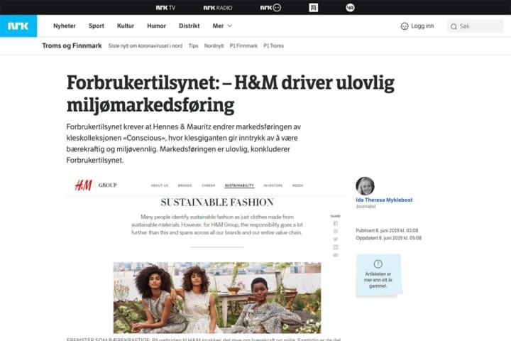 ノルウェー放送協会(ノルウェーの公共放送)によるH&Mに関する報道
